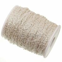 5m silver plated cable open link iron metal chain findings Jewelry Making DIY