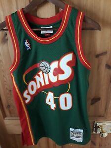 Shawn Kemp Seattle Supersonics Mitchell & Ness Green Jersey - Small