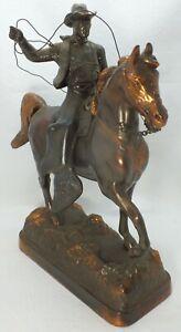 Cowboy Horse Lasso Gladys Brown Edwards Cast Metal Bronze Finish Dodge Inc LG501