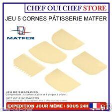 Corne de pâtissier, racloir polypropylène différentes formes - lot de 5 - MATFER