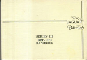 Jaguar Daimler Series III XJ6 & XJ12 Sovereign Double Six Handbook Pub. AKM 9005