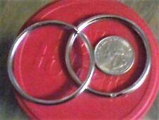6 PACK LARGE HEAVY DUTY 2 INCH SPLIT KEY RINGS HOLD 20-25 KEYS..STRONG STEEL