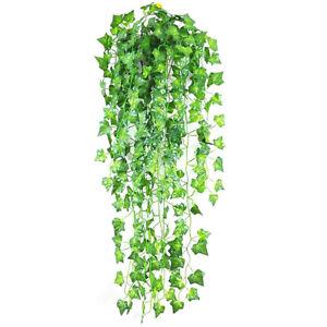 1Pcs Artificial Ivy Leaf Hanging Garland Vine Fake Plants For Home Decor