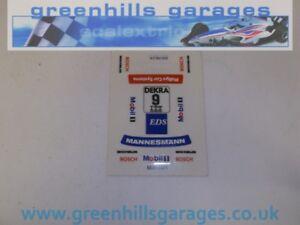 Greenhills Scalextric Opel Calibra Team Joest No 9 C701 New Original Decals