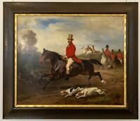 "high quality oil painting handpainted on canvas ""Hunter on horseback """