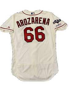 MLB Authenticated - Randy AROZARENA Game-Used 2019 NLCS Game 2 Ivory Jersey