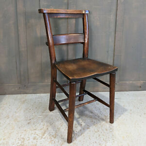Beautiful Antique Mellow Dark Classic Church Chapel Chairs St Peter's Leicester