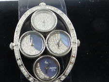 Pippo diamond MoonPhase ladies watch,swiss made in Italy  crocodile  new strap.