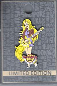 Hard Rock Cafe Pin: Honolulu 2016 Anima Band Girl Guitarist le300