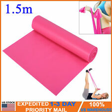 New 1.5m Yoga Exercise Fitness Rubber Elastic Strap Band Stretch Resistance Belt