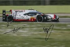 Lotterer, Tandy, Jani Hand Signed Porsche Racing 12x8 Photo Le Mans 2017 4.