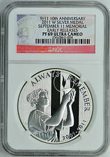 2011-W 9/11 MEMORIAL 10TH ANNIVERSARY EARLY RELEASES NGC PF69 ULTRA CAMEO