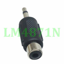 """2pcs Adapter 3.5mm 1/8"""" male plug to Rca female jack mono for Audio Converter"""