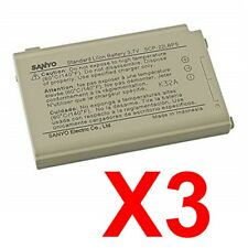 Lot Of 3 Sanyo Scp-22Lbps Batteries For Sanyo Scp 2400 3100 7000 7050 8040