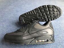 Men's Nike Air Max 90 Premium Black / Gold Trainers  UK 11