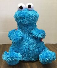 "10"" TALKING SESAME STREET/ME WANT COOKIES COOKIE MONSTER W/ BACKPACK ""No Cookies"