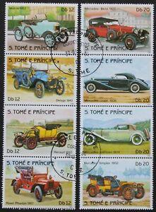 "Sao Tome e Principe: Michel-Nr. 852-859 ""Oldtimer"" 2x Zdr., 1983, gestempelt"