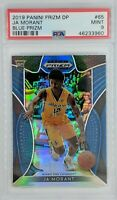 2019-20 Panini Prizm Draft Picks Blue Ja Morant Rookie RC #65, Graded PSA 9