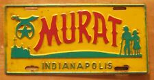 1960's INDIANAPOLIS INDIANA MURAT SHRINE TEMPLE MASONIC BOOSTER License Plate