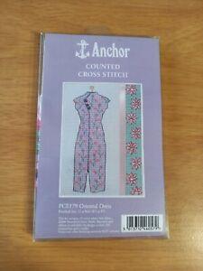 2006 Anchor Oriental Dress PCE179 Pink Diamonte Ribbon Beads Cross Stitch Kit
