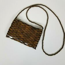Unbranded Wood Beads Small Crossbody Bag.