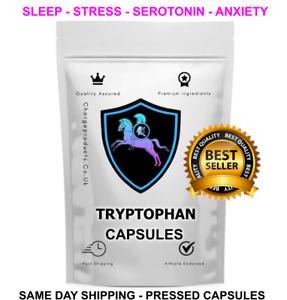 L-Tryptophan 60 Capsules Mood Sleep Relaxation Serotonin Essential Amino acid