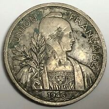 # 6620     FRENCH  INDO  CHINA    COIN,   1  PIASTRE     1946