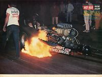 1970 Great Magazine Pic of Big Daddy Don Garlit Dodge Powered Top Fuel Dragster