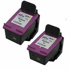 2x Remanufactured Ink Cartridges for HP 60XL CC644W Color for HP Deskjet F4480