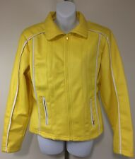 Highway Womens Large Yellow Polyurethane Jacket Original Lifestyle Clothing