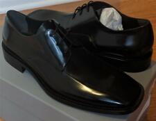 $950 Mens Balenciaga Lace Up Leather Dress Shoes Black 43 US 10