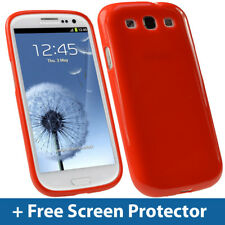 Red Glossy TPU Gel Case for Samsung Galaxy S3 III i9300 Android Skin Cover