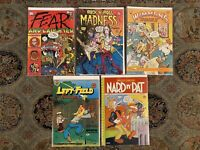 Fear and Laughter 1 Rock N Roll Madness 1 Wimmens Comix 9 Left Field Funnies ...