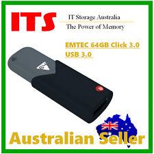 EMTEC 64GB Click 3.0 Flash Drive, USB 3.0,  Retractable USB Connector