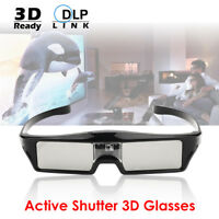 UK Active Shutter 3D Glasses DLP-Link Projector Sony Acer Coolux BenQ USB Charge