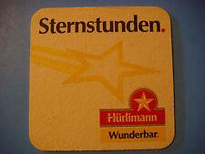 Beer COASTER ~<>~ Hürlimann (Feldschlösschen) Brewery Bier ~ Zurich, SWITZERLAND