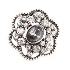 3DCrystal Chunk Charm Snap Button Fit For Noosa Necklace/Bracelet NSKZ136