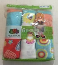 Fruit of the Loom 6 Pack Toddler Girls Briefs Size 4T/5T Tag Free
