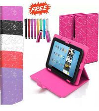"""Universal Folio Bling Leather Stand Case Cover 7"""" 7 Inch Tab Android Tablet PC"""