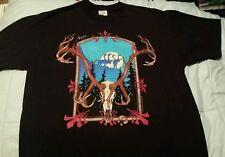 Vintage Alaska t shirt L Large skull bones elk deer moose