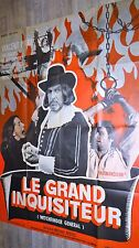 LE GRAND INQUISITEUR  ! vincent price affiche cinema epouvante sorcellerie 1967