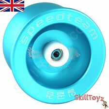 "Speed Team ""Wolf"" Metal Yo-Yo with Euro-Yo Yoyo Pouch - Blue  UK SELLER UK STOCK"