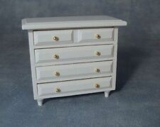 Chest Of Drawers In White Dolls House Miniature Bedroom Furniture