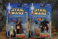 2002 Hasbro Star Wars Phantom Menace COLLECTION 1 & 2 DARTH MAUL & QUI-GON JINN