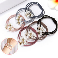 5PCS Women Girls Hair Band Ties Rope Ring Elastic Hairband Ponytail Holder HOT