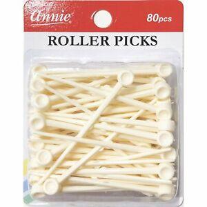 Annie Roller Picks - 80-Pack - #3199 - Plastic - Secure Rollers & Curlers
