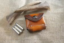 .38 or .357  & Other see below Ammo Leather Belt/Pocket 6-Cartridge Dump Pouch