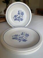 "Pfaltzgraff Yorktowne 4 Dinner Plates 9 7/8"" 3 Vintage, 1 35th Anniversary 2002"