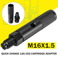 12g Gram New Quick Change  CO2 Cartridge Adapter Black With 88g Bottle Threads