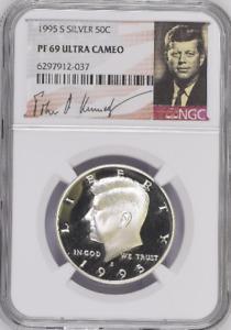 1995 S Silver Proof Kennedy Half Dollar - NGC PF 69 Ultra Cameo